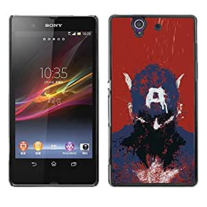 Be Good Phone Accessory // Dura Cáscara cubierta Protectora Caso Carcasa Funda de Protección para Sony Xperia Z L36H C6602 C6603 C6606 C6616 // Captain A Drawing