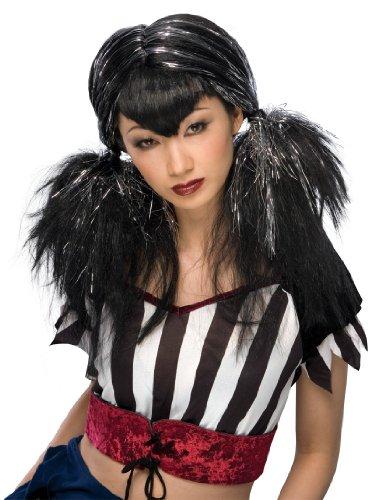 - Rubie's Costume Dark Angel Wig, Black/Silver, One Size