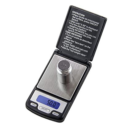 QMKJ Escala electrónica de precisión Mini báscula portátil Escala de la Palma de la joyería Escala