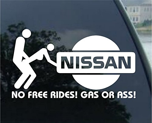 No Free Rides Decal for NISSAN 200 240 280 SX VERSA ARMADA MURANO ALTIMA 300ZX TURBO SENTRA SE-R 240 SX 350Z 240sz GT-R 350Z 370Z NISMO MAXIMA Pathfinder Titan Frontier (300zx Turbo)