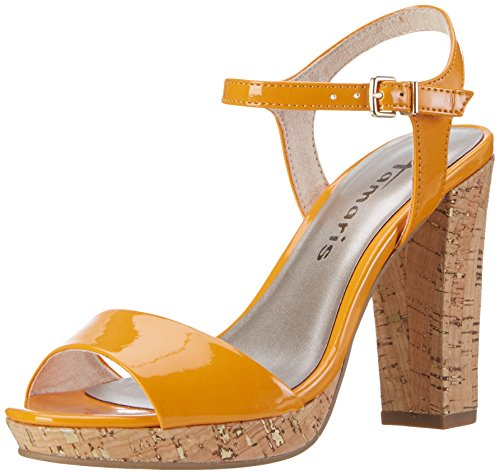 28002 Femme Tongs 607 Patent Orange Tamaris Orange Rdgawgq