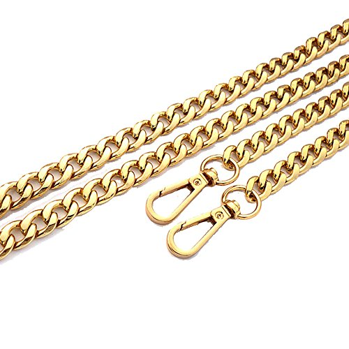 "SeptCity 47"" Handbag Chain Straps Accessory Replacement(Gold) (Gold Medium Shoulder Bag)"
