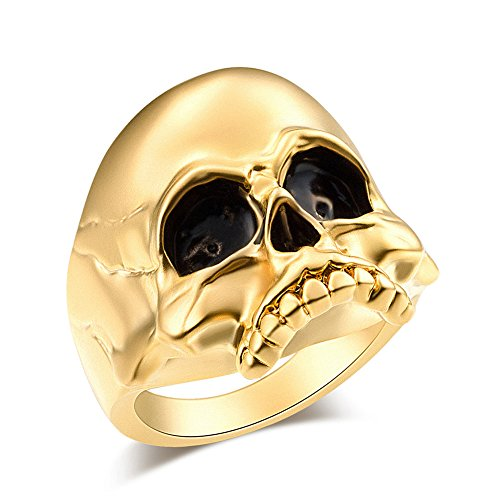 (EVBEA Skull Rings Men Big Biker Rock Mens Motorcycle Jewelry(mg,11))