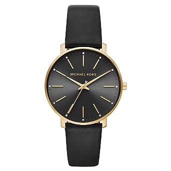 Michael Kors Reloj Analógico para Mujer de Cuarzo con Correa en Cuero MK2747: Amazon.es: Relojes