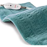 Sunbeam Heating Pad for Pain Relief   XL King Size SoftTouch, 4 Heat Settings with Auto-Off   Teal, 12-Inch x 24-Inch