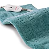 Sunbeam Heating Pad for Pain Relief | XL King Size SoftTouch, 4 Heat Settings with Auto-Off | Teal, 12-Inch x 24-Inch: more info