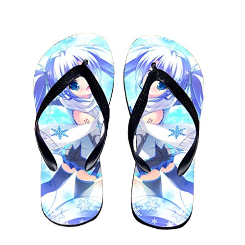 Bromeo Hatsune Miku Anime Unisex Flip Flops Chanclas 160