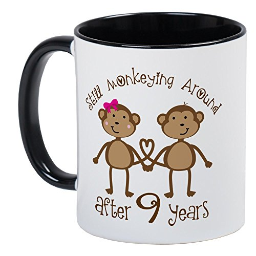 CafePress 9Th Anniversary Love Monkeys Mug Unique Coffee Mug, Coffee Cup ()