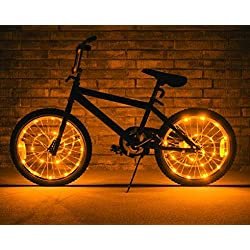 Brightz, Ltd. Wheel Brightz LED Bicycle Accessory Light (2-Pack Bundle for 2 Tires), Gold