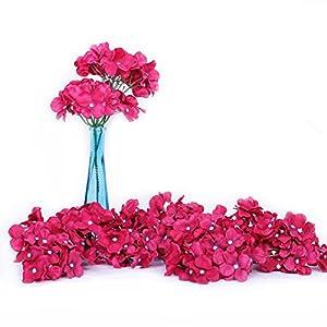 Li Hua Cat Artificial Flowers 10pcs Artificial Hydrangea Silk Centrepieces and Arrangement Real Touch Flowers for Home Decor Wedding Parties (Rose)