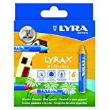 LYRA LYRAX Wax-Giants Large Triangular Beeswax Crayons, Set of 6 Crayons, Assorted Colors (5701060) (Packaging may vary)