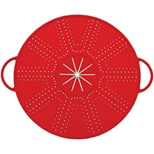 Starfrit 2-in-1 Silicone Splatter & Mixer Guard, Red