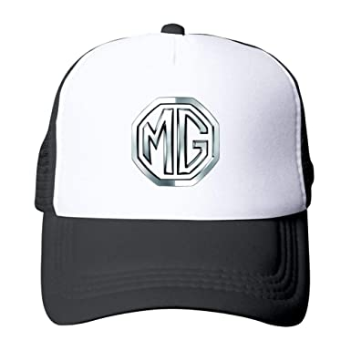 1a6bac0967511 Image Unavailable. Image not available for. Color  MG Logo Car Symbol Unisex  Mesh Baseball Cap Adjustable Snapback ...