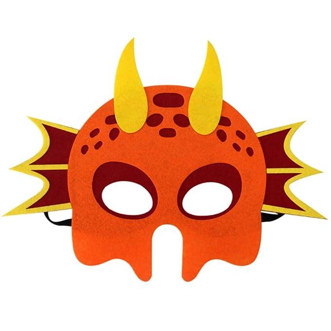 Takefuns Halloween Máscara decorativa de dinosaurio Cosplay Máscara de dragón para regalos de Navidad de dibujos animados Suministro fiesta Máscara de ...