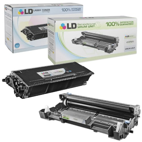 LD © Compatible Brother TN650 Toner and DR620 Drum Combo Pack: 1 Black TN650 Laser Toner Cartridge and 1 DR620 Drum Unit