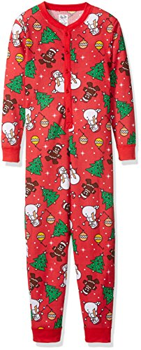 (Fruit of the Loom Big Boys' Union Suit, Red Christmas Print, XL (14/16))