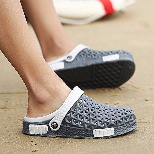 3 Deslizamento Buraco Verão Homens 5 9 Uk Cinza Respirável Sapatos De Sandálias 9 O Praia Novo Nós Eu Personalidade Tendência 43 Cn 1 45 1wpn0qFA