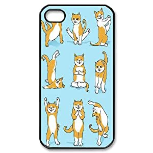 Yoga Cats Custom Cover Case for Iphone 4,4S,diy phone case ygtg572979