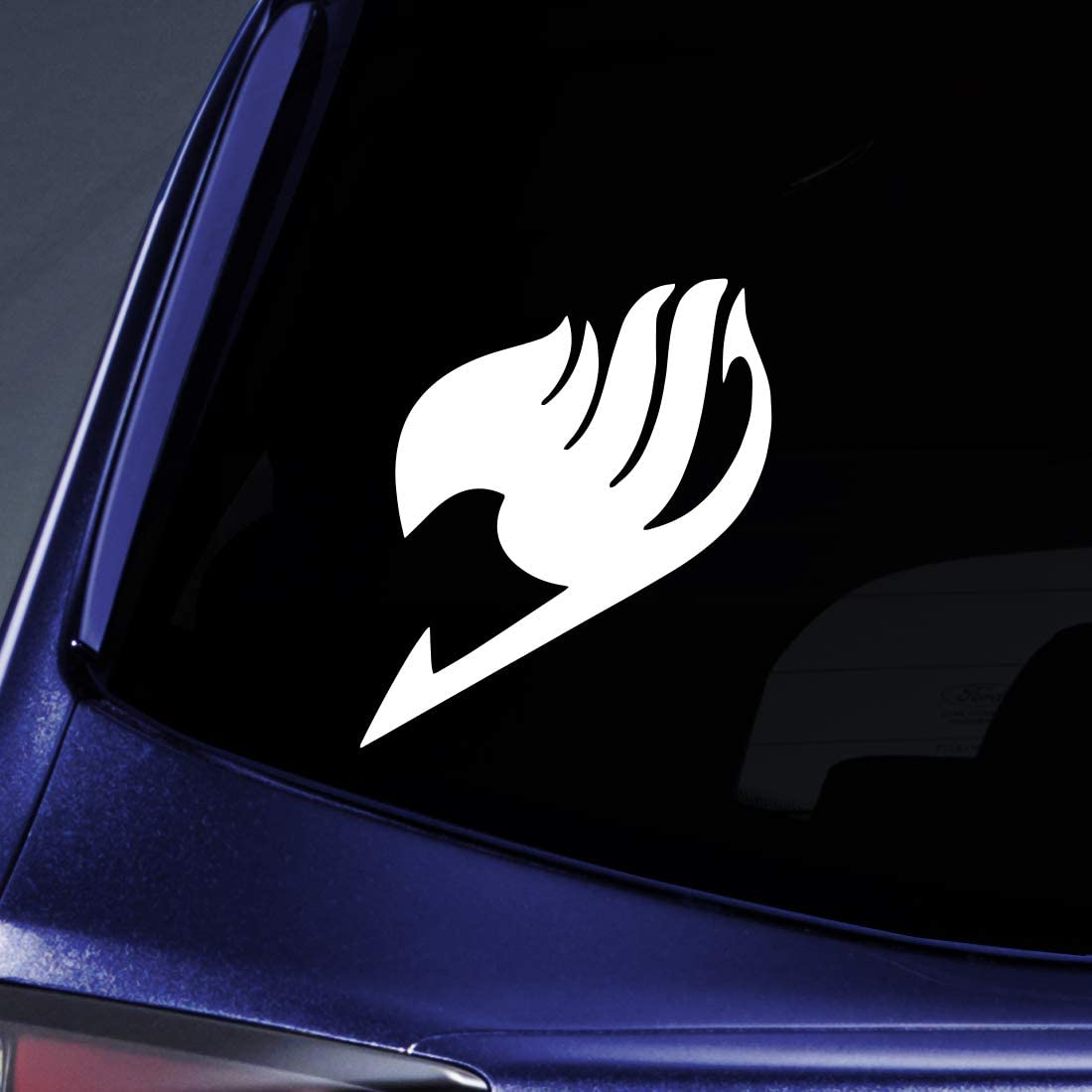 """Bargain Max Decals - Fairy Tail Logo Sticker Decal Notebook Car Laptop 5"""" (White)"""