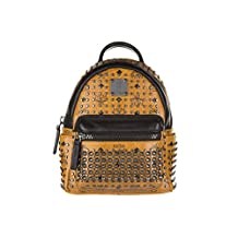 MCM women's leather rucksack backpack travel brown