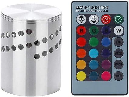 3W Remote LED Wall Light Spiral Lamp Sconce Lighting Home Bedroom KTV Decor