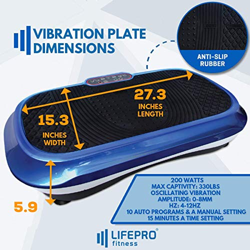 LifePro Vibration Plate Exercise Machine - Whole Body Workout Vibration Fitness Platform w/Loop Bands - Home Training Equipment for Weight Loss & Toning - Remote, Balance Straps, Videos & Manual by LifePro (Image #5)