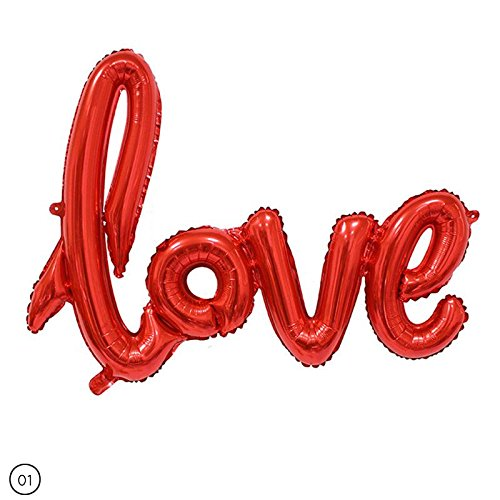 Niome LOVE Foil Letter Balloons - Perfect for