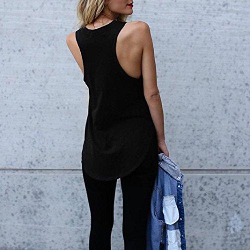 delle La di stampa i maniche del teenager messaggio ampio della Angelof neri donne della di modo camicetta di estate di vestiti camicetta ragazza copre stampato senza rwfg8rvq