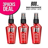 3-Pack! PARFUMS DE COEUR BOD Man Fragrance Body Spray 1.8oz (Most Wanted)