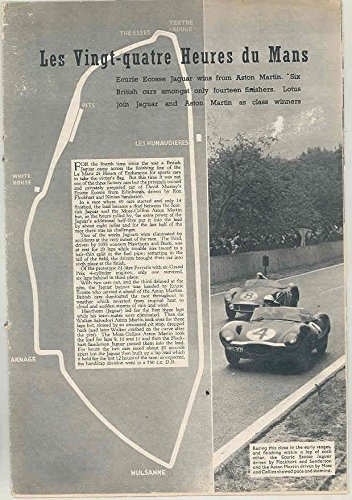 Ferrari Lemans (1956 LeMans Article Jaguar D Type Aston Ferrari Lotus Porsche Coope)