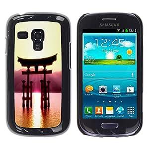 Paccase / SLIM PC / Aliminium Casa Carcasa Funda Case Cover para - Beautiful Japanese Mountain - Samsung Galaxy S3 MINI NOT REGULAR! I8190 I8190N
