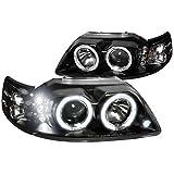 01 mustang halo headlights - Spec-D Tuning 2LHP-MST99JM-TM Ford Mustang Led Halo Black Projector Head Lights