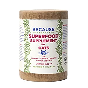 Because Animals Superfood & Probiotic Supplement for Cats (4.4oz) - All-Natural, Human-Grade Ingredients - With Vitamins, Minerals, Antioxidants and More for Better Digestion, Coat and Overall Health 11