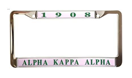 Amazon.com: Alpha Kappa Alpha Sorority Pink Stainless Steel License ...