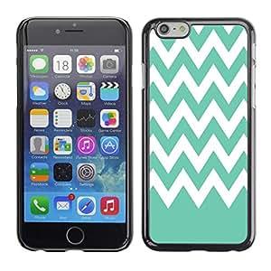 Dragon Case - FOR iPhone 6 - Light grey white waves - Caja protectora de pl??stico duro de la cubierta Dise?¡Ào Slim Fit