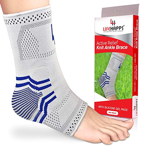 (Ankle Brace Compression Support Sleeve Best for Recovery and Powerful Pain Relief of Sprained Swollen Ankle, Achilles Tendonitis, Plantar Fasciitis, Heel Spurs-with Stabilizing Gel Pads (Extra Large))