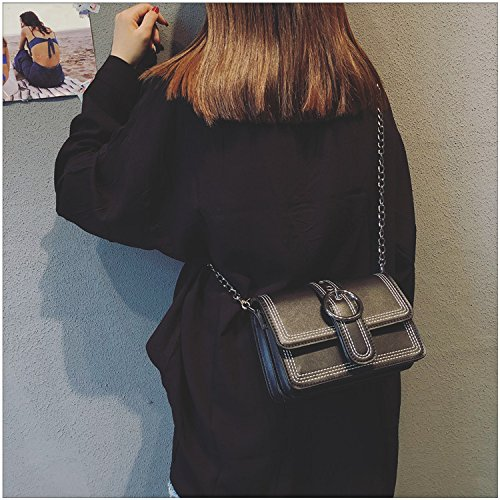 Small Retro Bag Practical Air Square Of Bag Black Female Cjshop Bent Chain Bag White Version Chic Korean Simple Female Oblique And Ins SBqa5w87