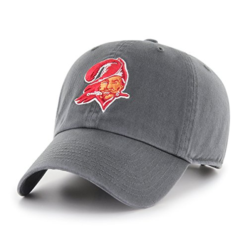 OTS NFL Tampa Bay Buccaneers Legacy Challenger Adjustable Hat, One Size, Charcoal]()