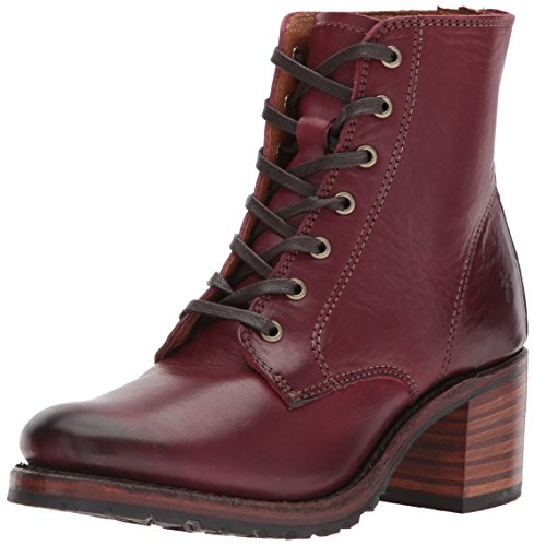 FRYE Women's Sabrina 6G LACE UP Boot, Black Cherry, 7.5 M US