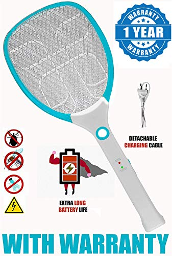 Azacus Rechargeable Mosquito Racket/BAT/Fly Swatters with LED Indicator