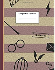 Composition Notebook: Harry Potter Inspired Notebook: For Kids, Boys, Girls, Elementary School, College, Journal, Gifts: Wide Ruled 110 Pages