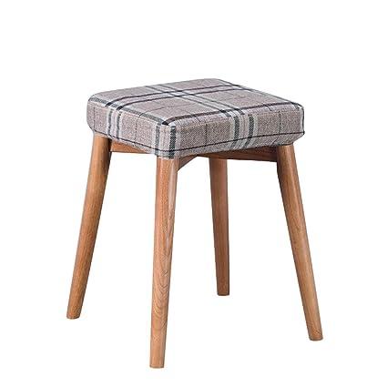Astonishing Amazon Com Zhzhpsfd Small Stool Home Fashion Solid Wood Machost Co Dining Chair Design Ideas Machostcouk
