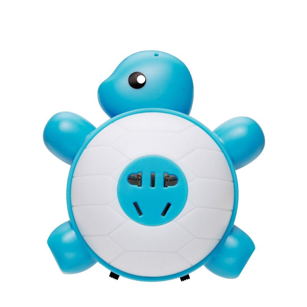 Unbekannt $Wall Lamp Light Schildkröten-Nachtlicht-Sprachsteuerung Induktions-LED-Lichter Kinderzimmer-Stecker in der Bedside-Wand-Lampe Wanddekoration Lichter (Farbe : Blau)