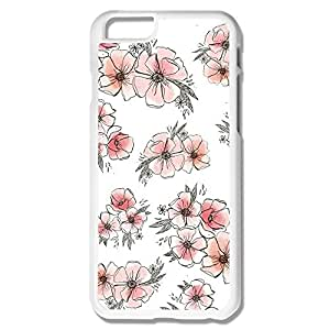 IPhone 6 Cases Pretty Watercolor Floral Print Design Hard Back Cover Cases Desgined By RRG2G