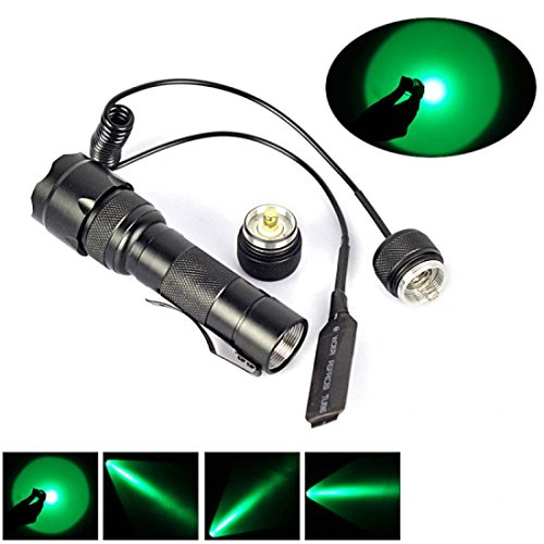1Pc Howling Popular Green LED 1000LM Flashlight Coated Glass Lens Tactical Lamp 1 Mode Bright Color Black with Pressure - Kickstarter Glasses