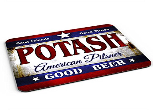 Potash American Pilsner Mousepad Desk Valet Coffee Station Mat