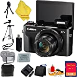 Canon PowerShot G7 X Mark II Digital Camera + Case + 64 GB Card + Reader + 6pc Starter Set + Tripod