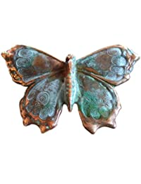Verdigris Patina Solid Brass Butterfly Pin
