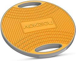 Aokeou バランスボード 滑り止め設計 360回転 体幹 トレーニング ダイエット器具 耐荷重200kg 直径40cm 持ち運び便利 運動不足に適応 (ブラック)