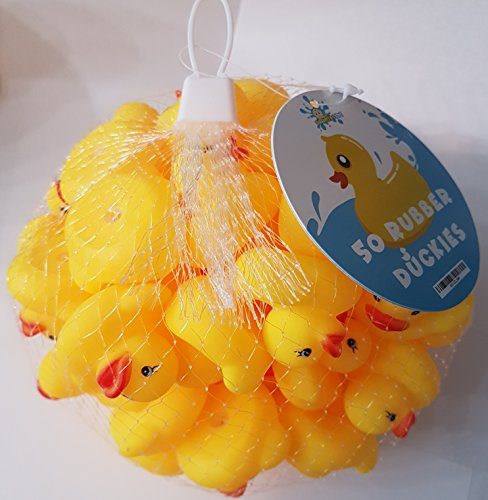 Mini Rubber Ducky Baby Bath Toy 50-Pack by Boomstar Toys (Image #2)